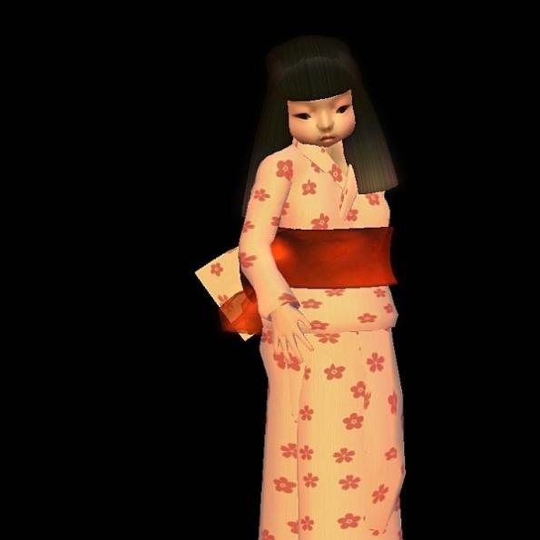 Japanese Doll in Yukata: Avatar by Taiko McCaw
