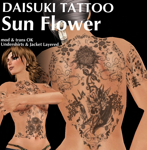High Detail Tattoos: Daisuki Tattoo: Sunflower