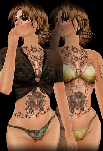 Another option for purchasing the Sunflower upper body tattoo is this set,