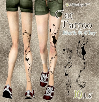 L$10 Cat Leg Tattoo from MNK