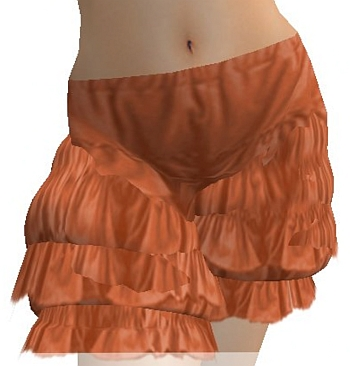 New! Ruffle Blouse & Free Orange Ruffle Shorts: Natura Designs